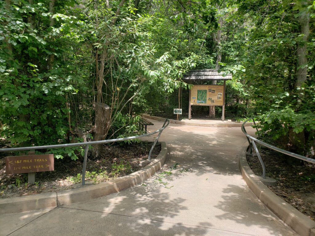 Entrance to the 1/4 mile loop at the El Dorado Nature Center in Long Beach