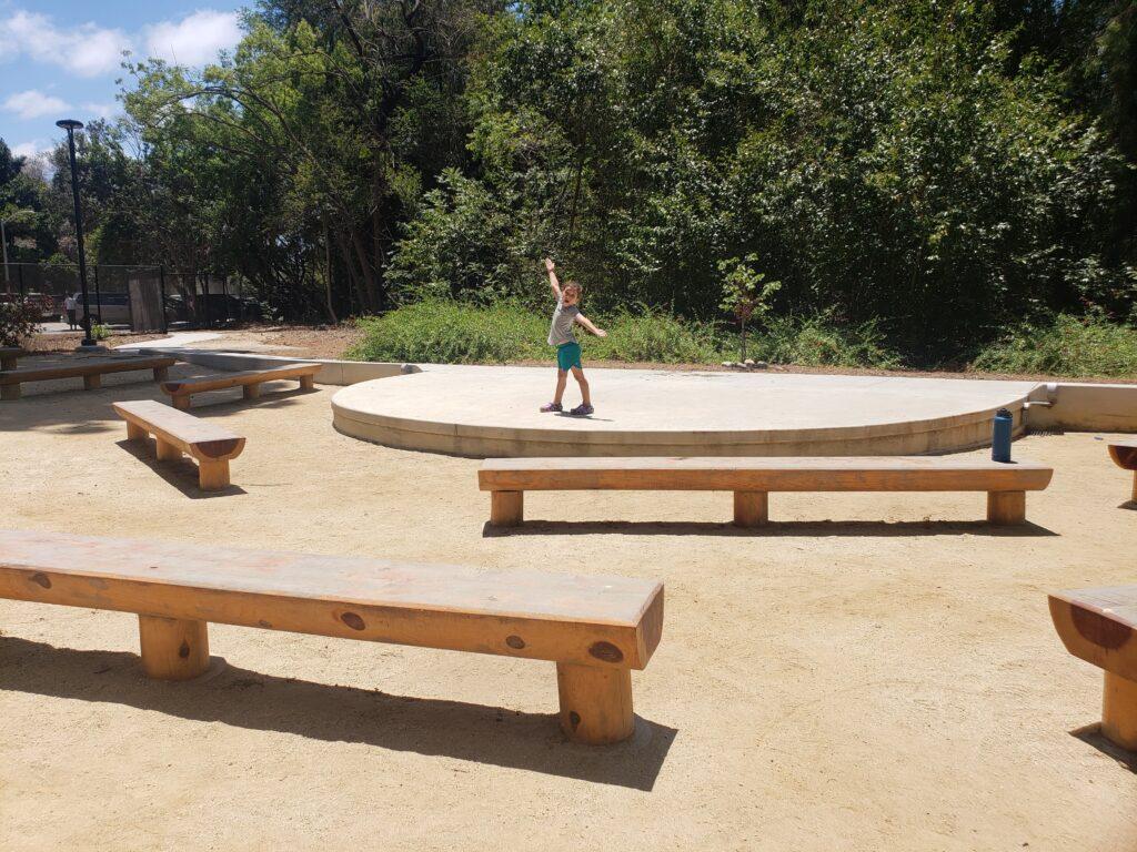 Amphitheater at the El Dorado Nature Center in Long Beach
