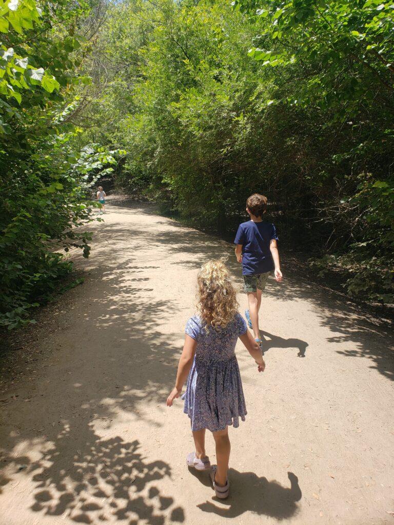 Beginning of the 1 mile loop at the El Dorado Nature Center in Long Beach