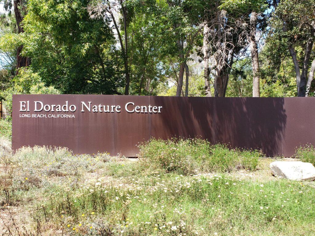 Entrance sign at the El Dorado Nature Center in Long Beach