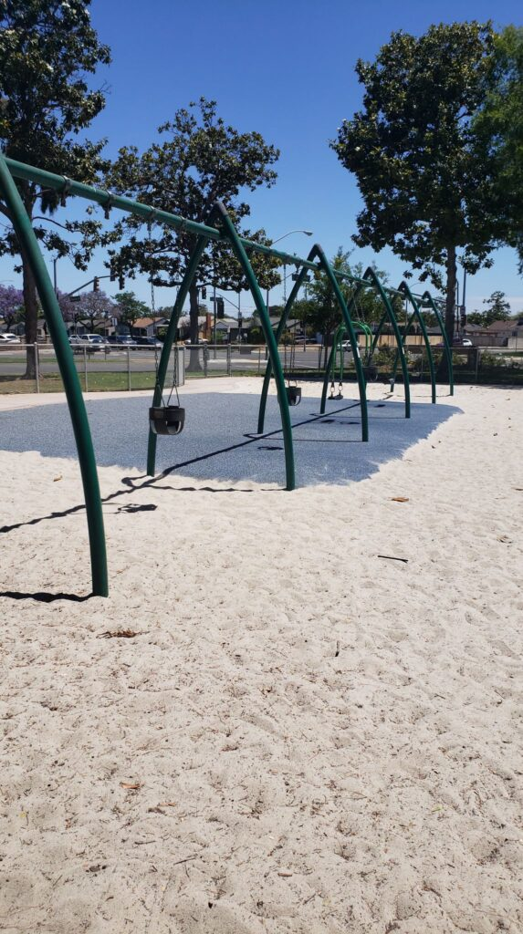 swing set with two person swing