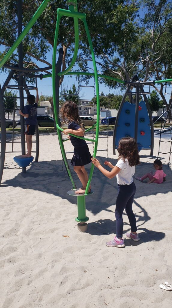 spinning structure at playground
