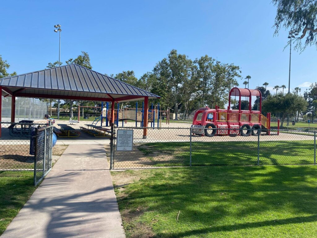 a large gated preschool playground