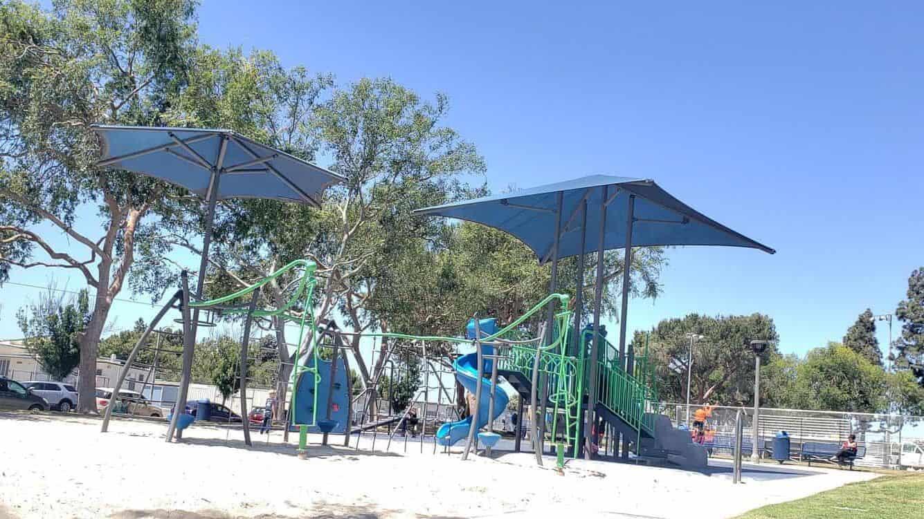 a sandy playground