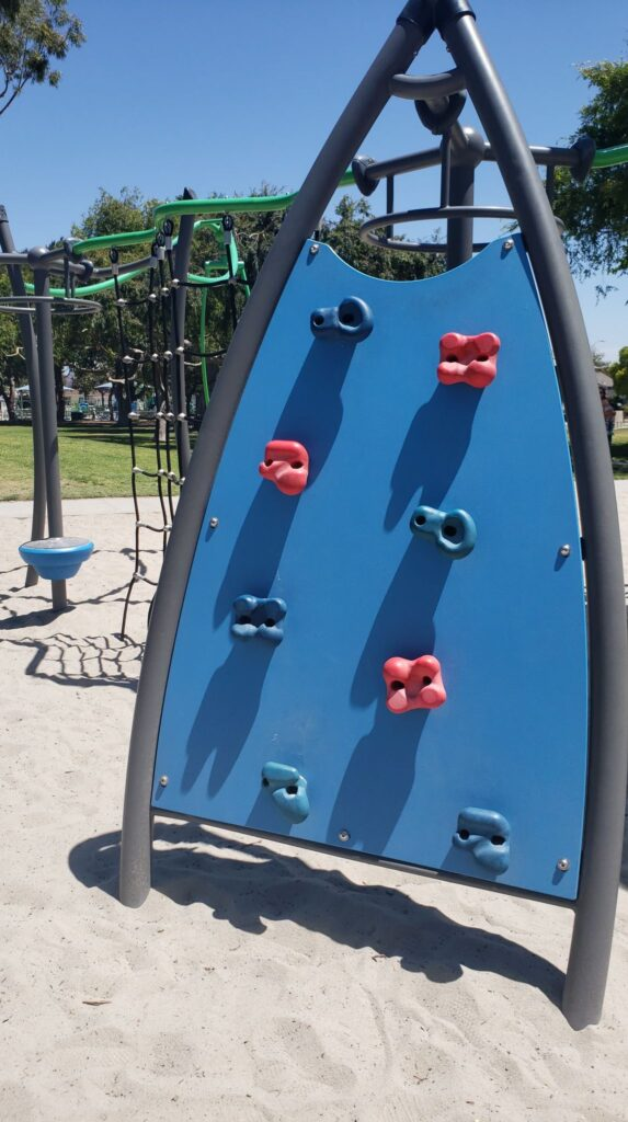 rock wall for kids at a park