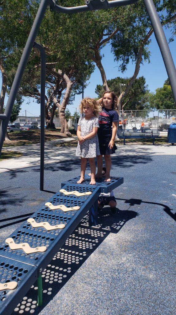 kids waiting in line for zipline