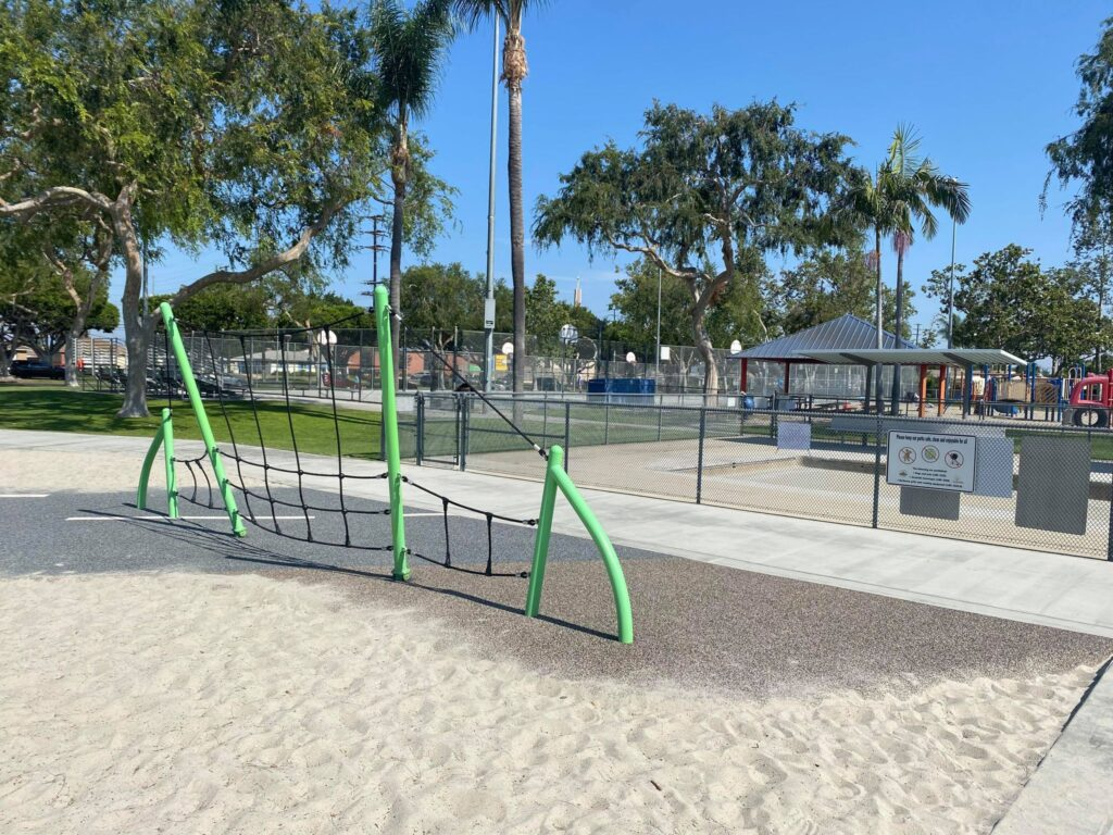 sand under play structures