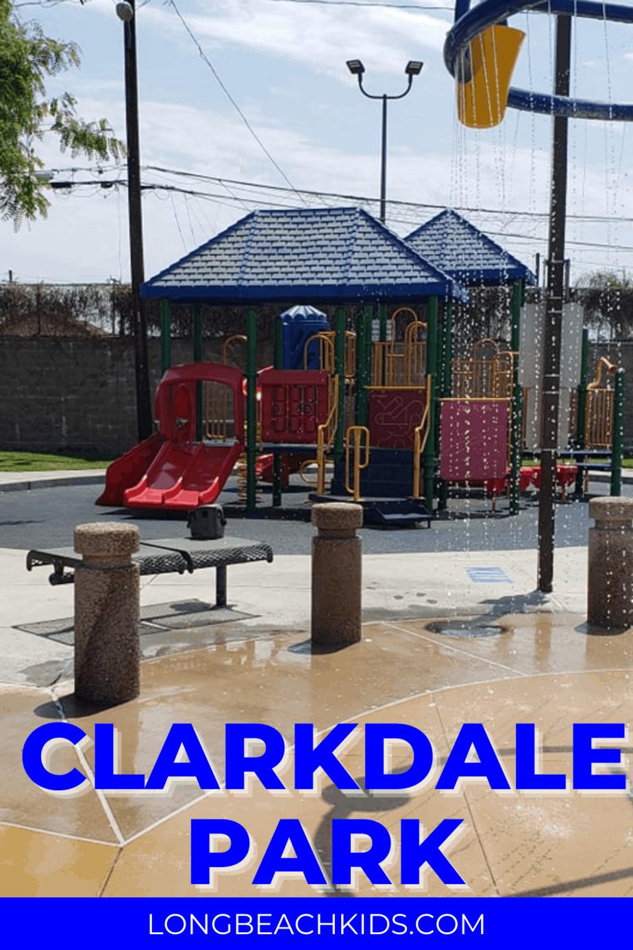 playground and splash pad at clarkdale park