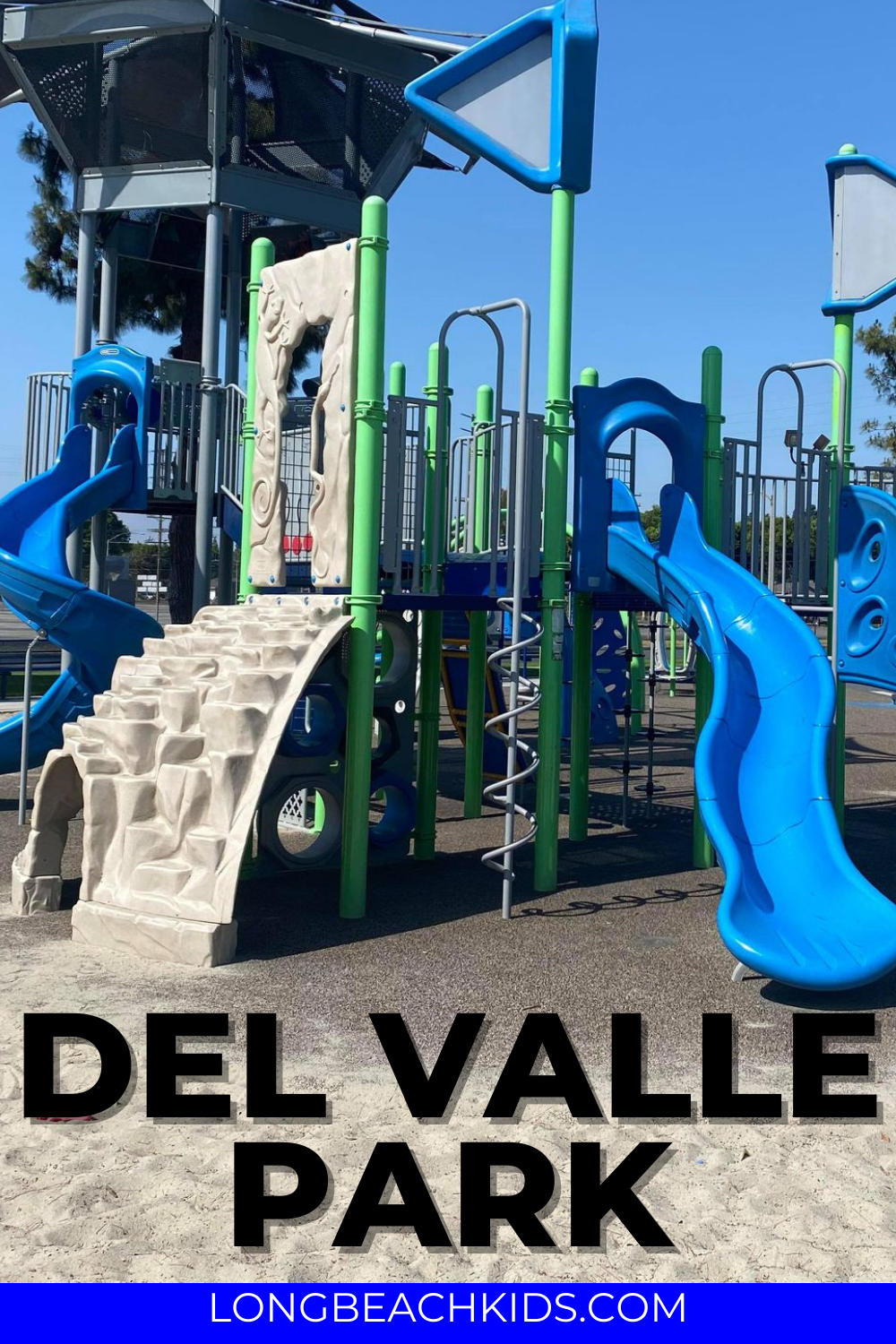 play structure; text: del valle park