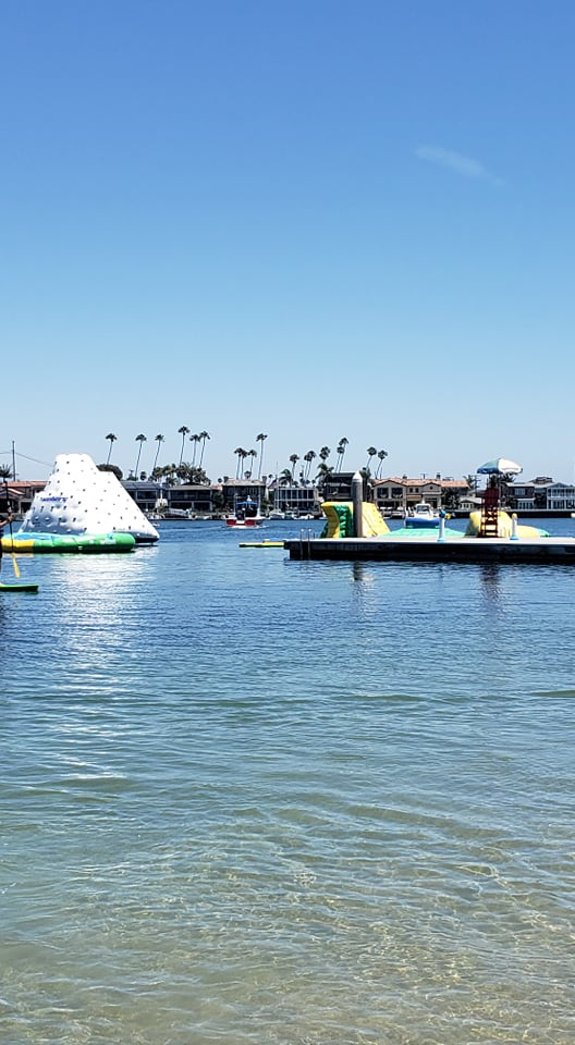 inflatables at bayshore in long beach
