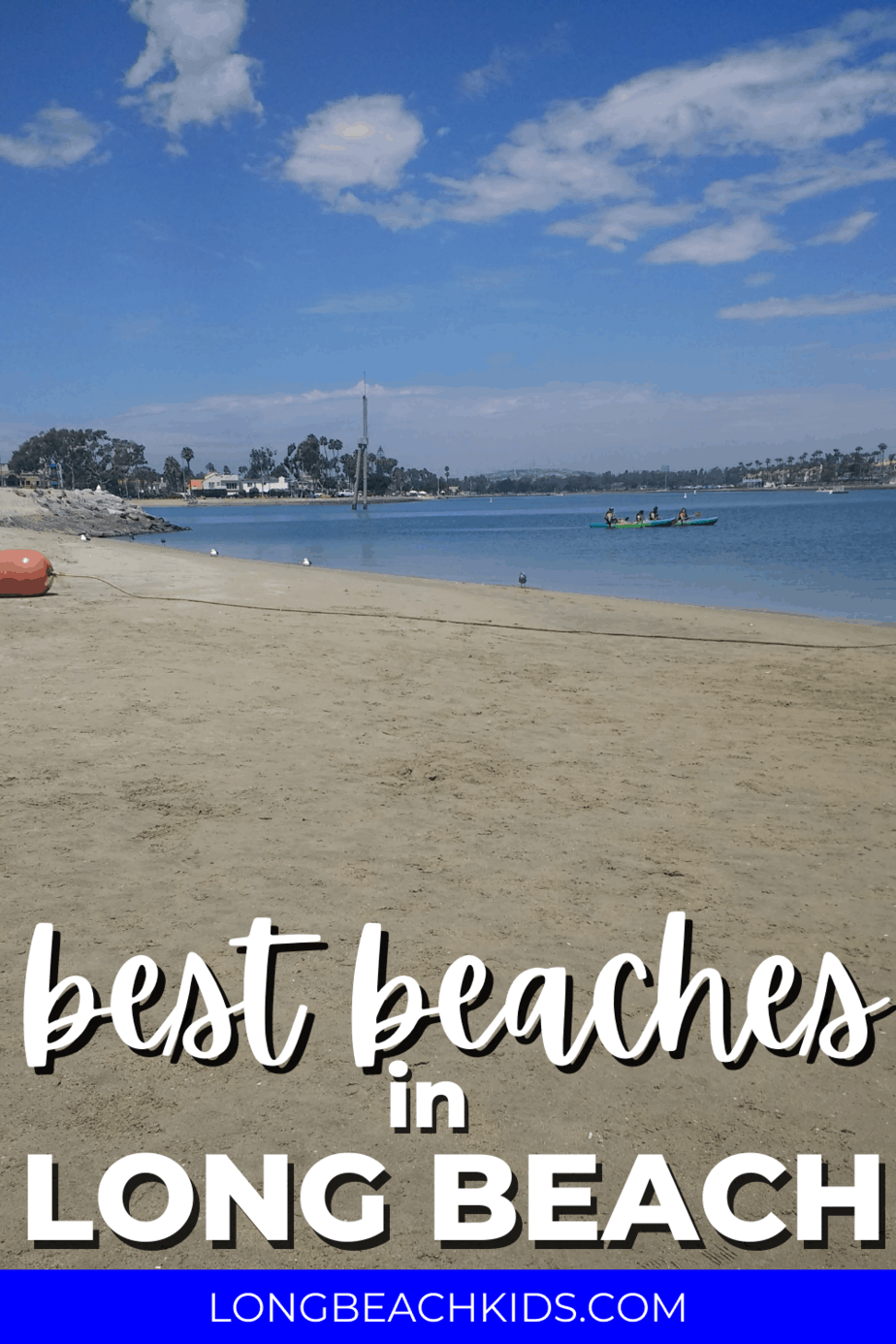 mothers beach in long beach; text: best beaches in long beach